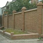 Кирпичные ограды
