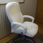 Новая обивка за 10$ на офисное кресло