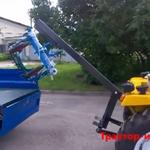 Кран на прицепном мини трактора