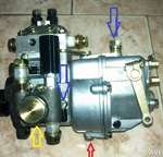 Замена масла в топливном насосе мини трактора Уралец -220