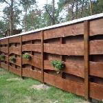 Забор из не обрезной доски