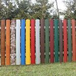 Забор из металлического штакетника, за и против