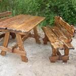 Обожжённая деревянная  мебель для дома