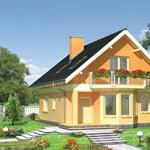 Четырехкомнатный дом с мансардой