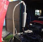 Продувка радиатора мини трактора
