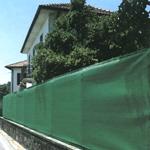 Глухой забор из фасадной сетки
