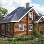 Двухэтажный дачный дом из бруса