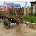 Самодельный подметальщик для мини трактора