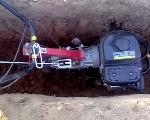 Копаем фундамент с помощью мотоблока