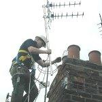 Установка телевизионной антенны загородом