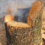 Печь из дерева своими руками