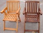 Раскладные стулья на деревянном каркасе