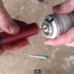 Заправляем аэрозольный  баллончик от дезодоранта