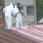 Ремонтируем крышу  битумно-полимерной эмульсией
