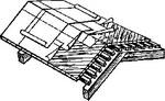 Рубероидное кровельное покрытие с  посыпкой, для временных сооружений