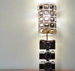 Светильник из слайдов и старого фотоаппарата