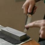 Заточка ножей вручную на искусственных камнях